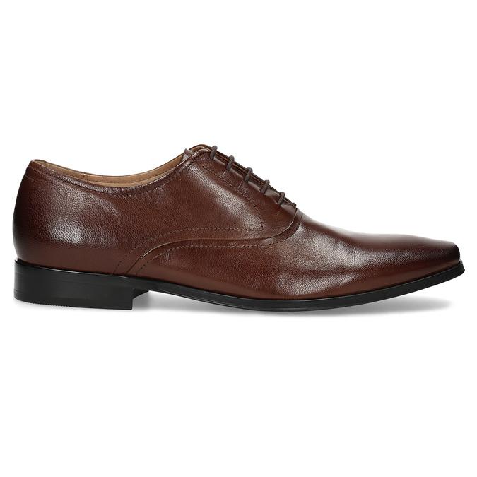 Hnedé kožené Oxford poltopánky bata, hnedá, 826-3808 - 19