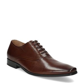 Hnedé kožené Oxford poltopánky bata, hnedá, 826-3808 - 13