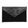 Listová kabelka so striebornou retiazkou bata, čierna, 969-6644 - 26