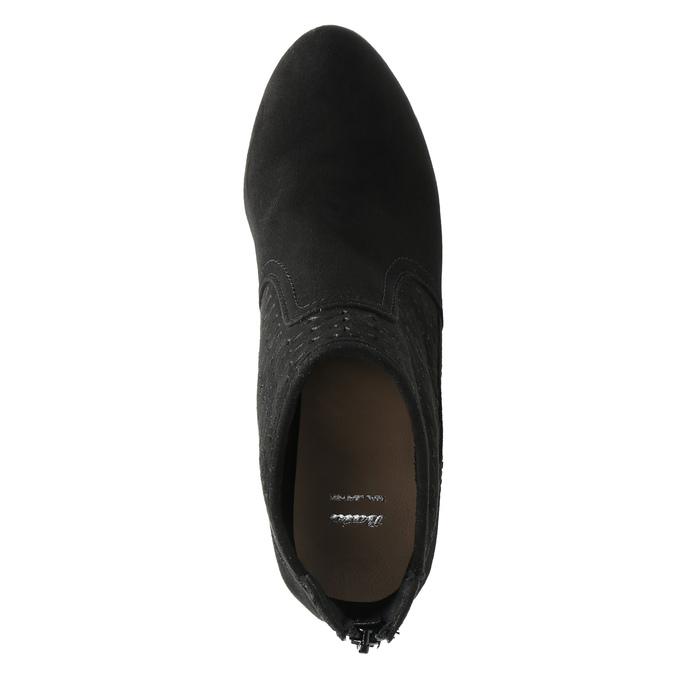 Členkové čižmy na ihličkovom podpätku bata, čierna, 729-6603 - 19