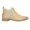Kožené Chelsea topánky s perforáciou bata, béžová, 596-3651 - 15