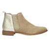 Kožené členkové čižmy s pružnými bokmi bata, béžová, 596-4652 - 15