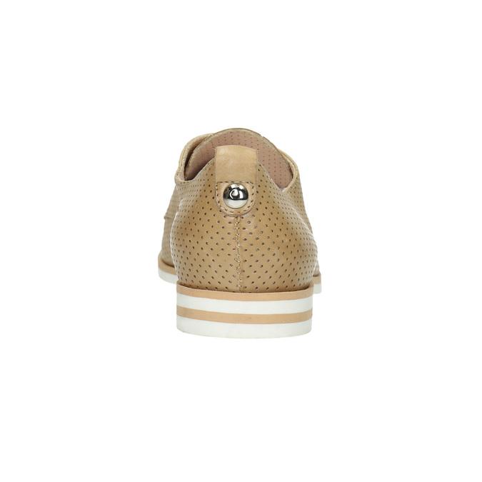 Dámske ležérne kožené poltopánky bata, béžová, 526-3626 - 17