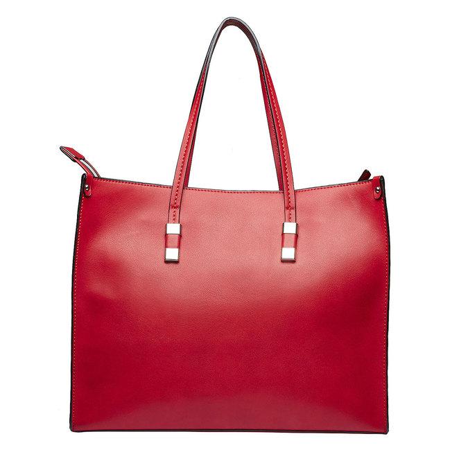 Hranatá kabelka v Shopper štýle bata, červená, 961-5736 - 26
