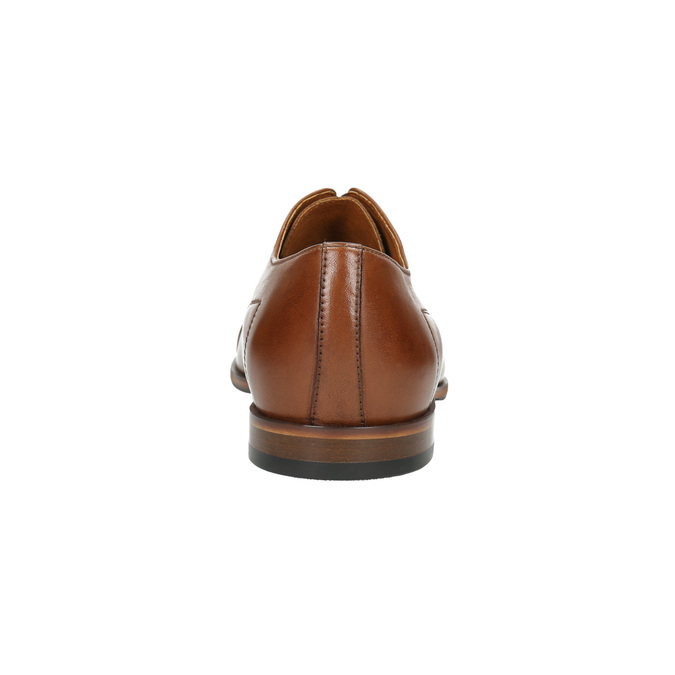 Hnedé kožené poltopánky conhpol, hnedá, 824-3856 - 17