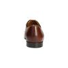 Hnedé kožené poltopánky so zdobením conhpol, hnedá, 826-3837 - 17