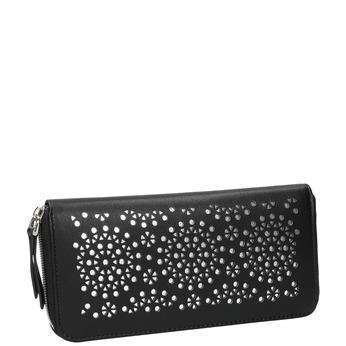 Dámska perforovaná peňaženka bata, čierna, 941-6154 - 13