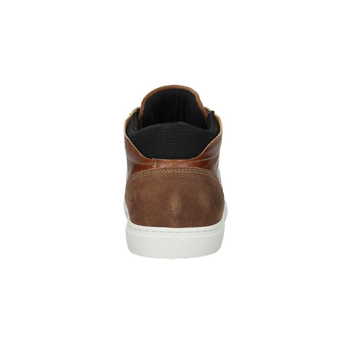 Kožené členkové tenisky bata, hnedá, 844-3631 - 17