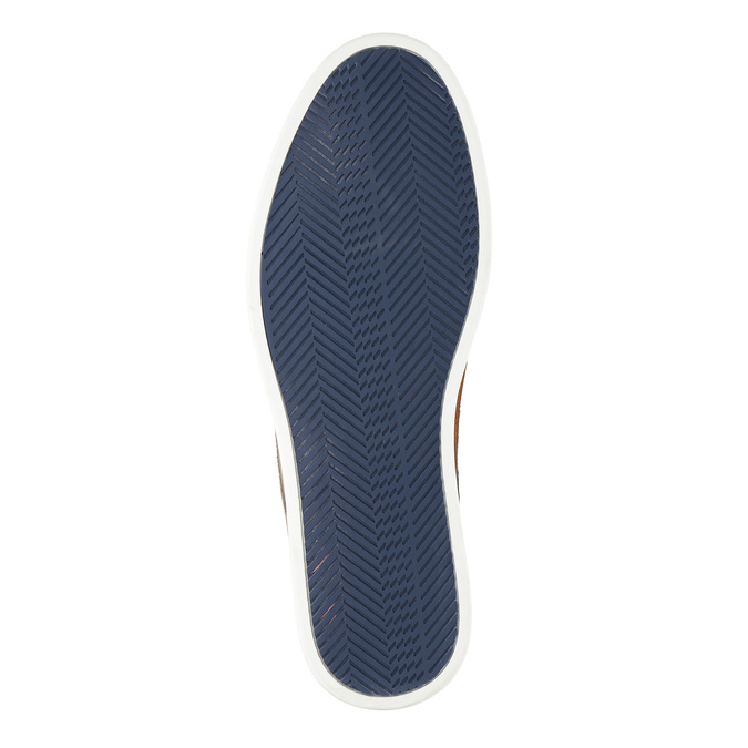 Ležérne kožené poltopánky bata, béžová, 843-8623 - 26