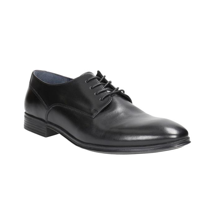 Pánske čierne kožené poltopánky bata, čierna, 824-6813 - 13