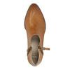 Kožené členkové čižmy s perforáciou bata, hnedá, 596-4647 - 19