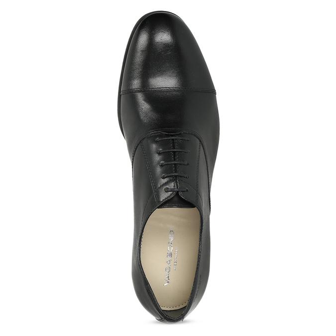 Čierne kožené Oxford poltopánky vagabond, čierna, 824-6048 - 17