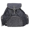 Dámský batoh s kovovými ozdobami bata, modrá, 969-9240 - 26