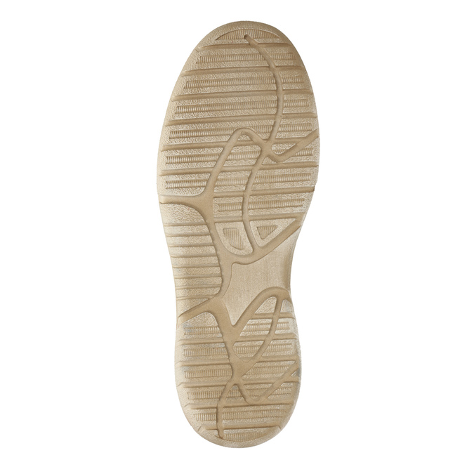 Ležérne kožené poltopánky weinbrenner, béžová, 846-8631 - 26