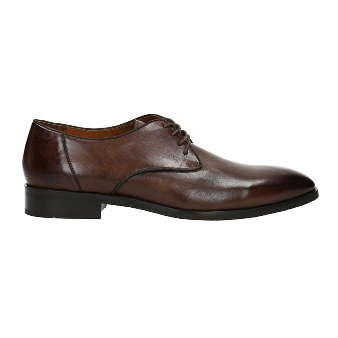 Hnedé kožené poltopánky bata, hnedá, 826-4796 - 15