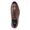 Hnedé kožené poltopánky pánske bata, hnedá, 826-4800 - 19