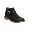 Kožená členková obuv so sponou bata, čierna, 596-6634 - 13