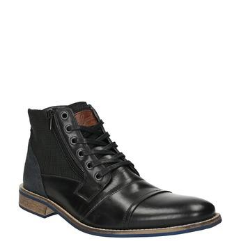 Kožená členková obuv s ležérnou podrážkou bata, čierna, 894-6684 - 13