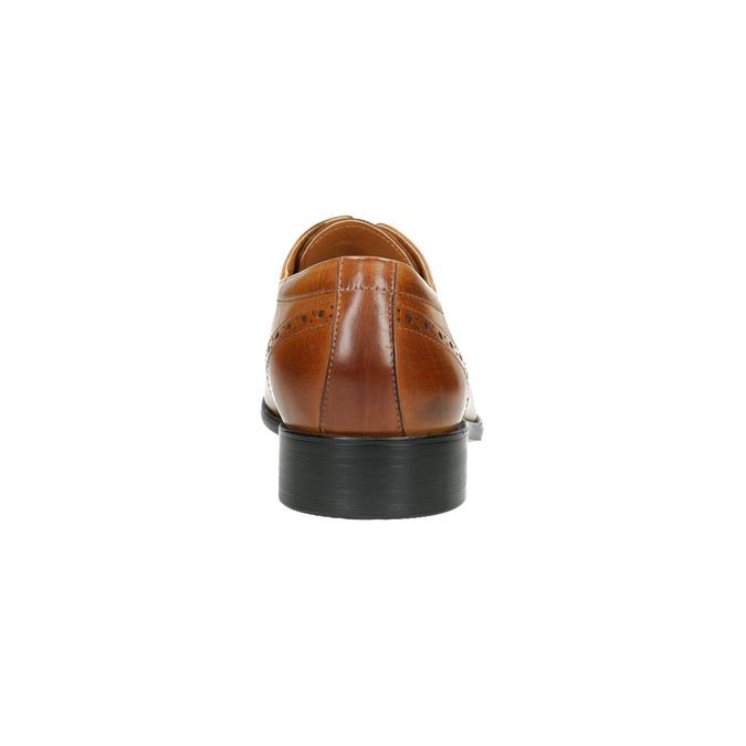 Pánske kožené poltopánky so zdobením bata, hnedá, 826-3821 - 17