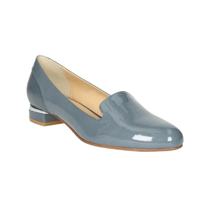 Kožená dámska obuv v štýle Loafers bata, modrá, 518-9600 - 13