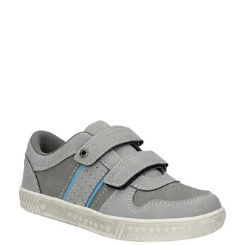 Detské tenisky na suchý zips mini-b, šedá, 411-2604 - 13