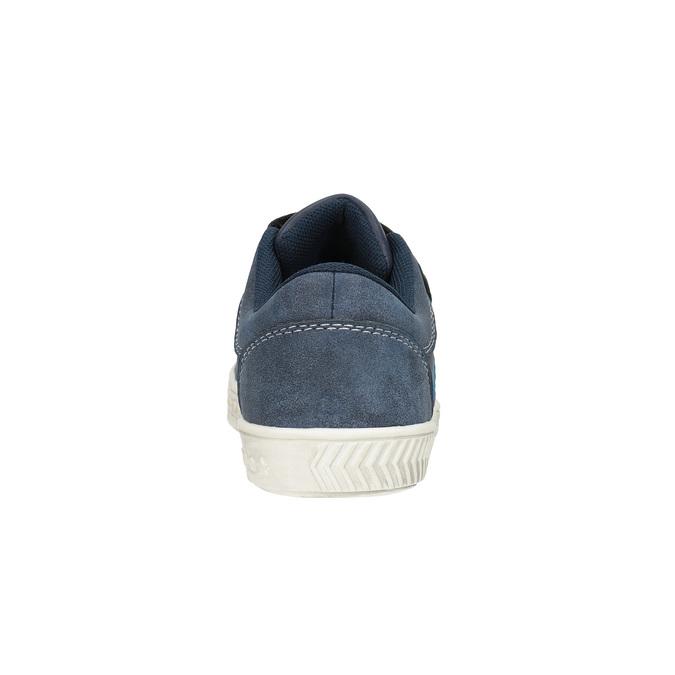 Detské tenisky s prešitím mini-b, modrá, 411-9604 - 17