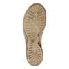 Kožené baleríny s remienkom cez priehlavok bata, béžová, 526-2622 - 26