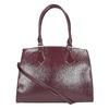 Vínová kabelka s pevnými rúčkami bata, červená, 961-5740 - 19