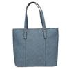 Modrá kabelka s perforovaným detailom bata, modrá, 961-9711 - 26