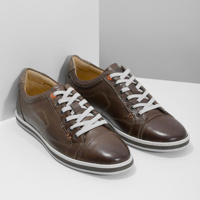 Kožené pánske tenisky bata, hnedá, 846-4617 - 26