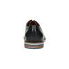 Kožené poltopánky s pruhovanou podošvou bata, čierna, 826-6790 - 17