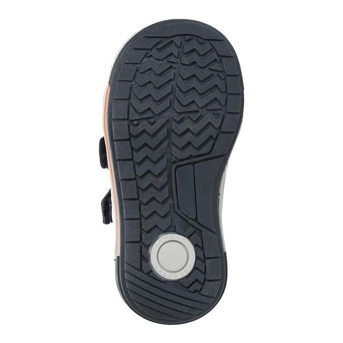 Detské kožené topánky na suchý zips bubblegummers, modrá, 116-9600 - 26