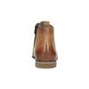 Kožená členková obuv s perforáciou bata, hnedá, 596-4645 - 17