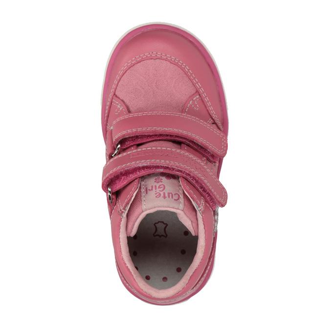 Detské tenisky so suchým zipsom bubblegummers, ružová, 126-5600 - 19