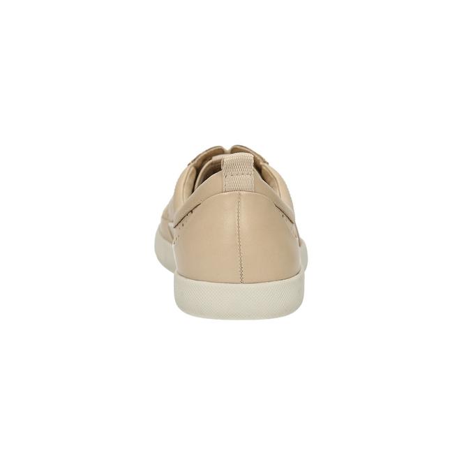 Dámske kožené tenisky s perforáciou bata, béžová, 526-8618 - 17