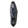 Modré pánske poltopánky z kože bata, modrá, 826-9836 - 19
