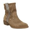 Kožené členkové čižmy bata, hnedá, 596-4653 - 13