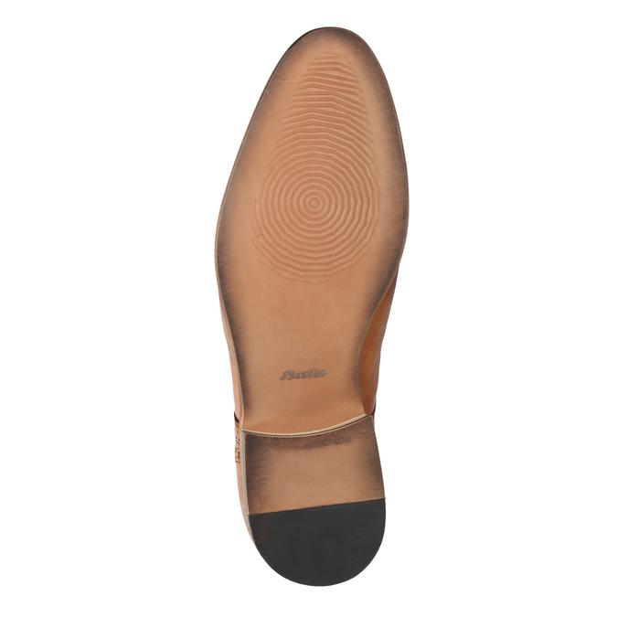 Kožené poltopánky s Brogue zdobením bata, hnedá, 826-3795 - 26