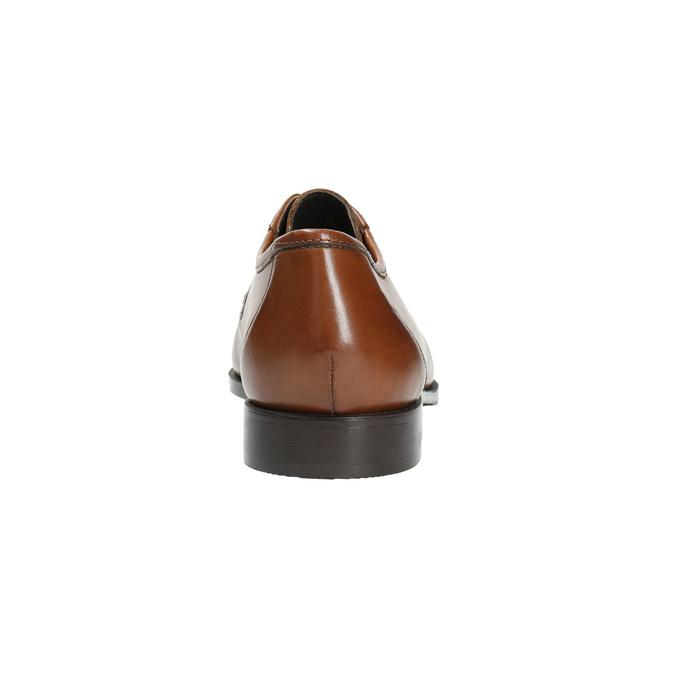 Kožené pánske poltopánky s výrazným prešitím bata, hnedá, 824-4838 - 17