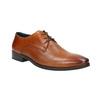 Hnedé kožené Derby poltopánky bata, hnedá, 826-3804 - 13