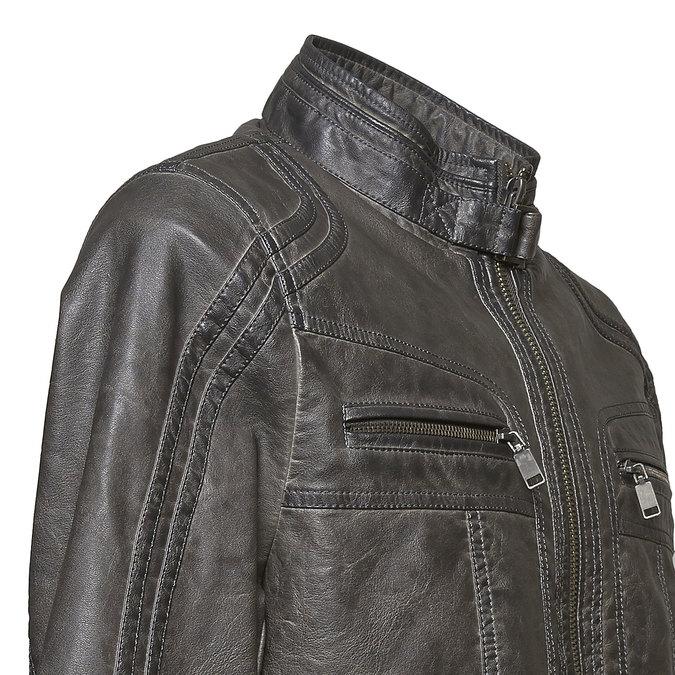Pánska prešívaná bunda bata, šedá, 971-2194 - 16