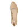 Kožené lodičky na klinovom podpätku bata, béžová, 626-8638 - 19