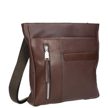 Kožená pánska Crossbody taška bata, hnedá, 964-4230 - 13