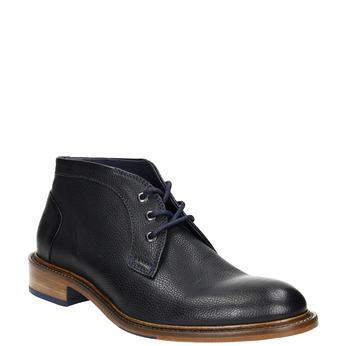 Celokožená členková obuv bata, modrá, 826-9909 - 13