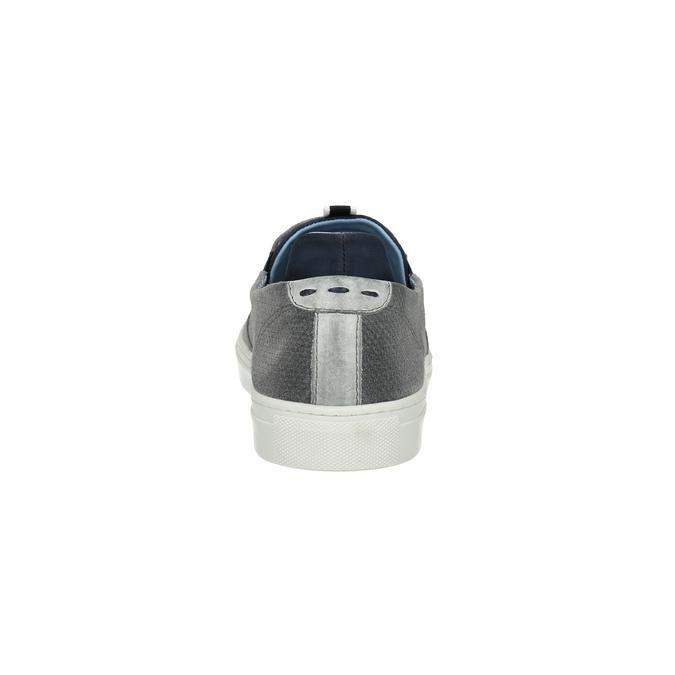 Kožené šedé Slip-on topánky bata, šedá, 833-2600 - 17