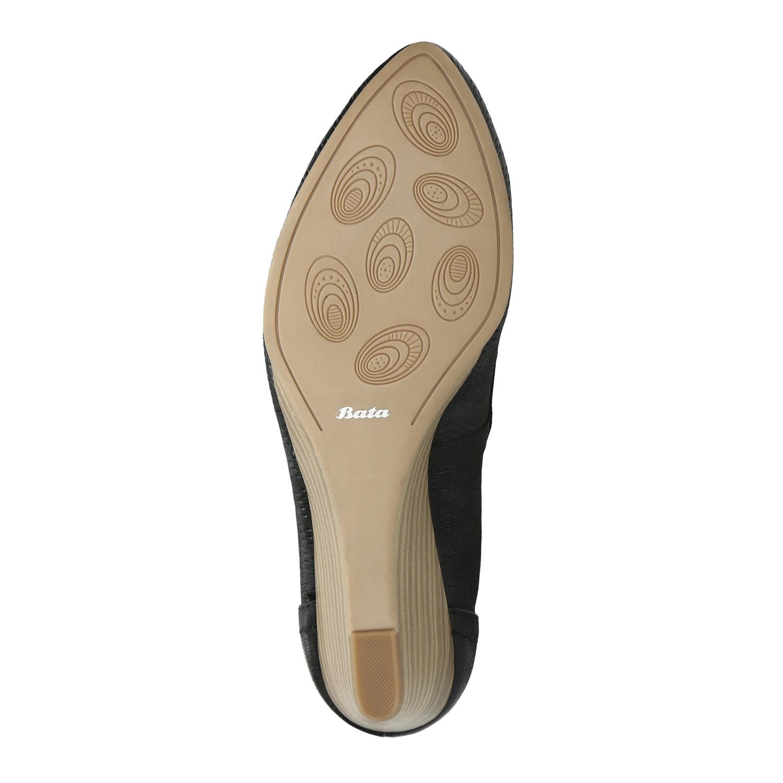 b6a525dfeb Bata Kožené lodičky na klinovom podpätku - Všetky topánky