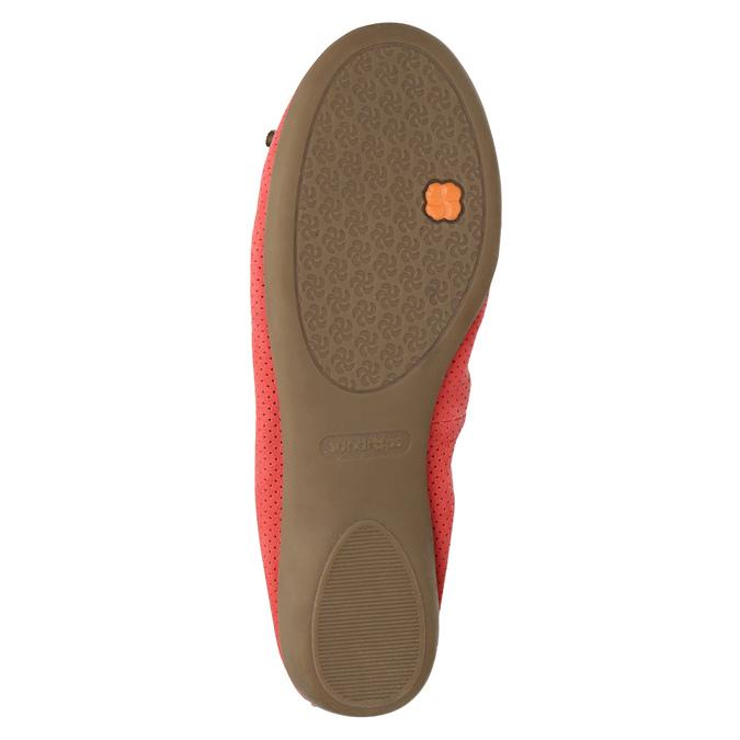 Červené baleríny s pružným lemom bata, červená, 526-5617 - 26