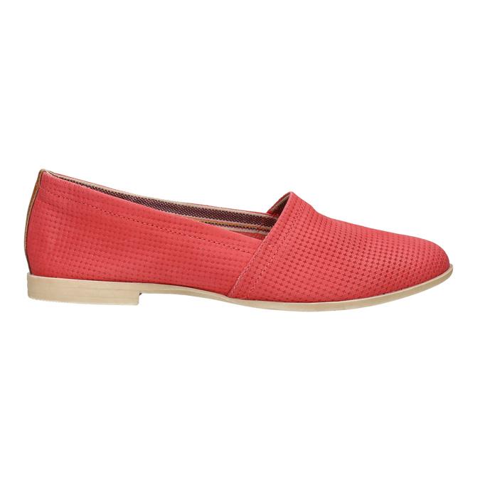 Červené kožené Slip-on topánky bata, červená, 516-5602 - 15