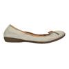 Kožené baleríny s pružným lemom bata, béžová, 526-8617 - 15