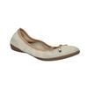 Kožené baleríny s pružným lemom bata, béžová, 526-8617 - 13